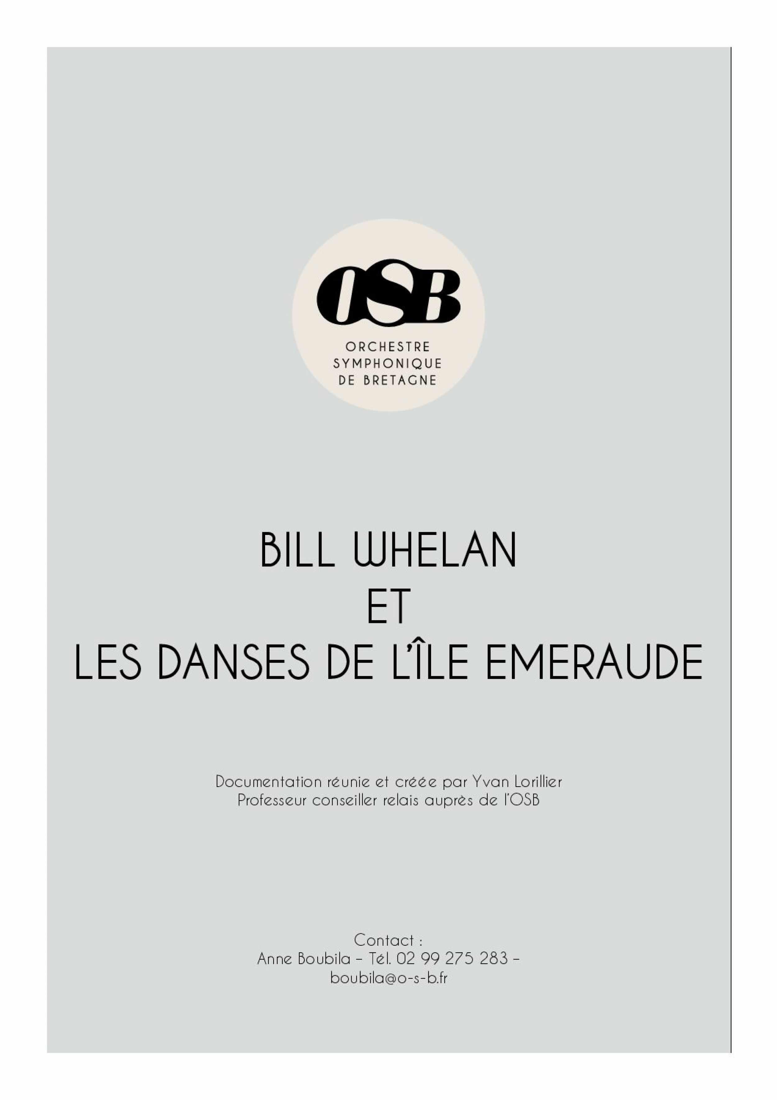 Bill_Whelan et les danses de l'île Emeraude