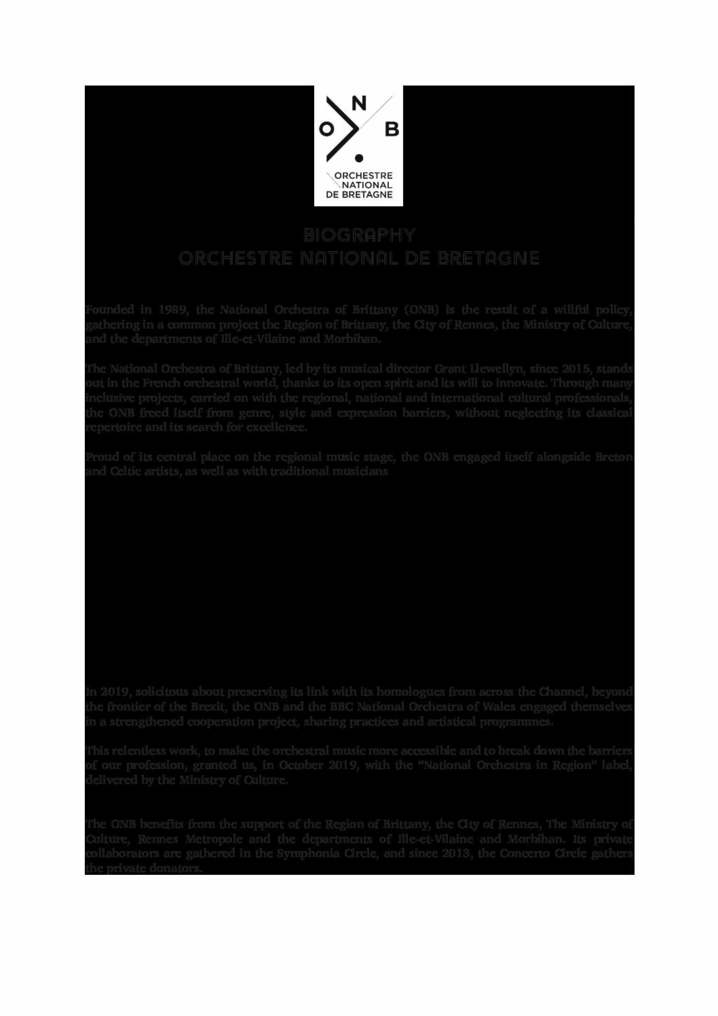 Biographie Anglais - Orchestre National de Bretagne