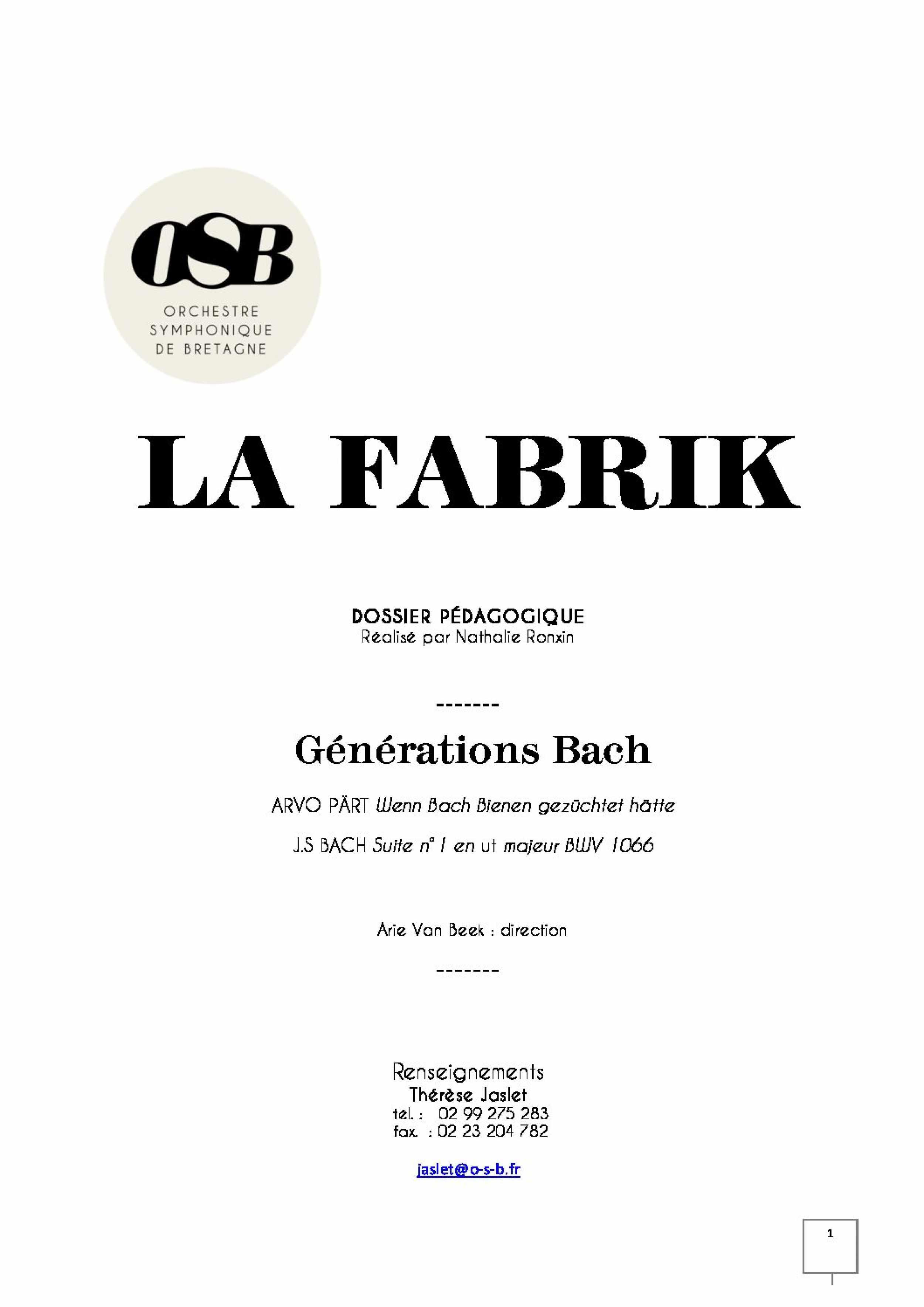 Generations Bach